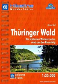 Wandelgids Thüringer Wald rund um den Rennsteig | Hikeline | ISBN 9783850005760