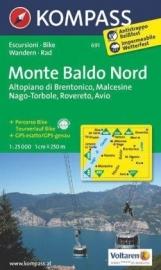 Wandelkaart Monte Baldo Nord - Malcesine | Kompass 691 | 1:25.000 | ISBN 9783850265379
