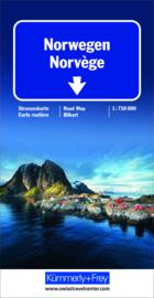 Wegenkaart  Noorwegen - Norwegen | Kummerley & Frey | 1:750.000 | ISBN 9783259010587
