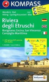 Wandelkaart Riviera degli Etruschi | Kompass 2461 | ISBN 9783850266048