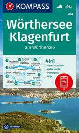Wandelkaart Wörthersee-Klagenfurt | Kompass 061 | 1:25.000 | ISBN 9783990447536