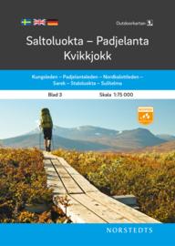 Wandelkaart Saltoluokta - Padjelanta - Kvikkjokk outdoor fjall 03 | Norsteds | 1:75.000 | ISBN 9789113105000