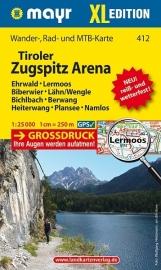Wandelkaart Tiroler Zugspitz Arena XL | Walter Mayr 412 | 1:25.000 | ISBN 9783850266185