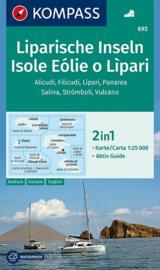 Wandelkaart Isole Eolie o Liparie | Kompass | Liparische Eilanden | Kompass 693 | 1:25.000 | ISBN 9783990443767