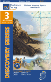 Wandelkaart Ordnance Survey / Discovery series | Donegal/ Derry 3 | ISBN 9781907122439