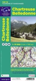 Wandelkaart - Fietskaart Chartreuse - Belledonne | IGN TOP 75 nr. 2 | ISBN 9782758526445