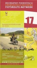 Sportoena fietskaart 17 Ourthe en Lesse: Dinant, Marche-en-Famenne, Bastogne, La-Roche-en-Ardenne | Fietsroute-Netwerk | ISBN 9789078976073