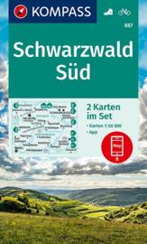 Wandelkaart Schwarzwald Süd |  Kompass 887 | 1:50.000 | ISBN 97839904476112