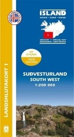 Wegenkaart - Fietskaart Sudvesturland / Zuidwest IJsland 01 | 1:200 000 | Mal og menning | ISBN 9789979333760