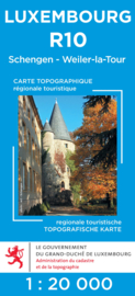 Wandelkaart Schengen / Weiler La Tour | Topografische dienst Luxembourg 10 | ISBN 5425013060462