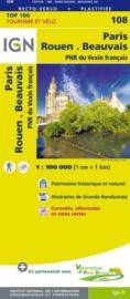 Wegenkaart - Fietskaart Paris - Rouen | IGN 108 | ISBN 9782758543589