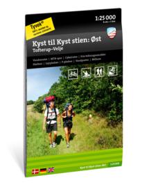 Wandelkaart Von Küste zu Küste - Östlicher Teil | Calazo Outdoormaps Serie - Calazo Förlag Dänemark | 1:25.000 | ISBN 9789188779809