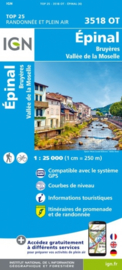 Wandelkaart Epinal | Vogezen | IGN 3518 OT - IGN 3518OT | ISBN 9782758550242