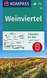 Wandelkaart Weinviertel | Kompass 204 | 1:50.000 | ISBN 9783990446355