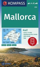 Wandelkaart Mallorca | Kompass 230 | 1:75.000 | ISBN 9783990446409
