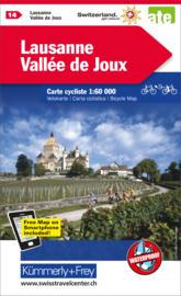 Fietskaart Lausanne / Vallée de Joux | Kümmerly+Frey nr. 14 | 1:60.000 | ISBN 9783259024140