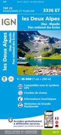Wandelkaart Les Deux  Alpes, Olan, Muzelle, Valjouffrey | NP Ecrins |  IGN 3336 ET - IGN 3336ET