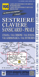 Wandelkaart Sestriere - Claviere - Sansicario | IGC nr.105 | 1:25.000 - ISBN 9788896455579
