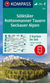 Wandelkaart Sölktäler, Rottenmanner Tauern, Seckauer Alpen   Kompass 223   ISBN 9783990447598