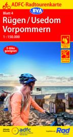 Fietskaart Rügen / Usedom Vorpommern nr. 4 | ADFC Radtourenkarte  | 1:150.000 | ISBN 9783969900673