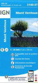 Wandelkaart Mont Ventoux, Mormoiron | Vaucluse - Drome | IGN 3140ET - IGN 3140 ET | 1:25.000 | ISBN 9782758539759