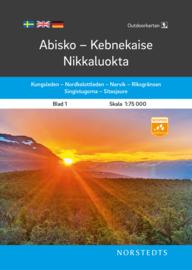 Wandelkaart Abisko - Kebnekaise - Nikkaluokta outdoor fjall 01 | Norsteds | 1:75.000 | ISBN 9789113104980
