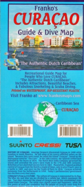 Duikkaart Curaçao - Mini dive, Drive and Bike Map | Franko's | ISBN 9781601902481