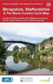 Fietskaart Shropshire, Staffordshire & The Black Country Cycle Map 022 | Sustrans | ISBN 9781900623377