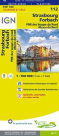 Wegenkaart - Fietskaart Strasbourg / Forbach | IGN 112 | ISBN 9782758543619