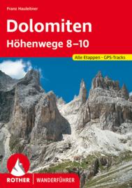 Wandelgids-Trekkinggids Dolomiten Hohenwege 8-10 | Rother Verlag | ISBN 9783763333684