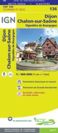 Wegenkaart - fietskaart Dijon - Chalon sur Saone | IGN 136 | ISBN 9782758547587