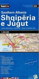 Wegenkaart Albanië Zuid - Southern Albania | Vektor Editions | 1:200.000 | ISBN 9789604487776