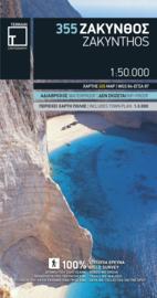 Wandelkaart Zakynthos | Terrain maps 335 | 1:50.000 | ISBN 9789609456944