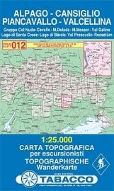 Wandelkaart Alpago - Cansiglio - Piancavallo | Tabacco 12 | 1:25.000 | ISBN 9788883150128