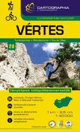 Wandelkaart Vértes | Cartographia krt. 20 | 1:40.000 | ISBN 9789633531204