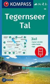Wandelkaart Tegernseetal | Kompass 08 | 1:25.000 | ISBN 9783990444245
