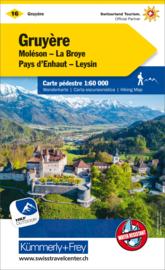 Wandelkaart Greyerz-Gruyere | Kümmerly + Frey 16 | 1:60.000 | ISBN 9783259022160