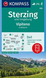 Wandelkaart Sterzing | Kompass 058 | 1:25.000 | ISBN 9783990445471