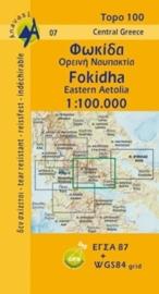 Wegenkaart Fokhida - Upland Nafpaktia (Griekenland) | Anavasi 07 | 1:100.000 | ISBN 9789608195714