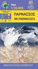Wandelkaart Mt. Parnassos  | Anavasi 2.1 | 1:35.000 | ISBN 9789609412513