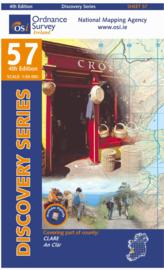 Wandelkaart Ordnance Survey / Discovery series | Clare 57 | ISBN 9781907122897
