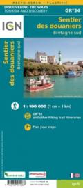 Wandelkaart Bretagne Sud - Le sentier des douaniers GR34 | 1:100.000 | ISBN 9782758551287
