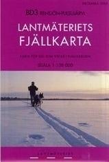 Wandelkaart Rensjon - Pulsujarvi Fjällkarta | Lantmateriet BD03 | ISBN 9789158895423