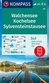 Wandelkaart Walchensee - Kochelsee | Kompass 06 | 1:25.000 | ISBN 9783991210313
