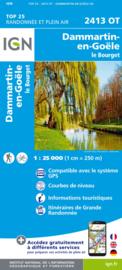 Wandelkaart Dammartin en Goële | IGN 2413OT - IGN 2413 OT