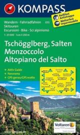 Wandelkaart Tschögglberg / Salten Monzoccol  | Kompass 055 | 1:25.000 | ISBN 9783990440803