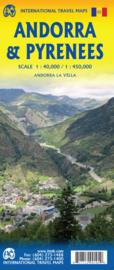 Wegenkaart  Andorra - Pyreneeën | 1:40.000 / 1:450.000 | ITMB | ISBN 9781771290104