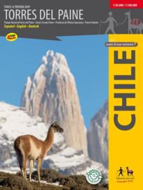 Wandelkaart Torres del Paine   Travel & Trekking map ViaChile Editores   1:50.000 / 1;100.000   ISBN 9789568925239