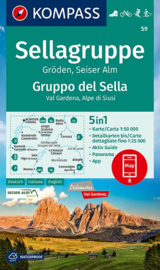 Wandelkaart Sellagruppe - Marmolada | Kompass 59 | 1:50.000 | ISBN 9783990448373