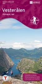 Wandelkaart Vesterålen Sor 2811 | Nordeca | 1:100.000 | ISBN 7046660028117